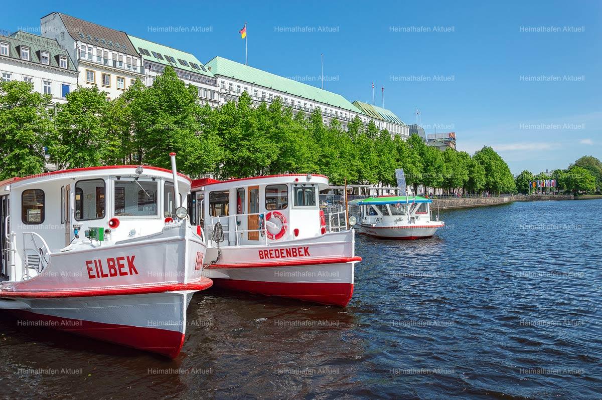 Hamburg Fotos Alster - ALS-00002-Alsterdampfer-auf-der-Binnenalster