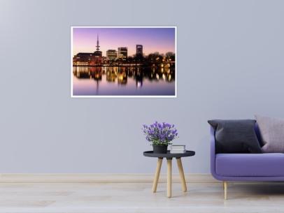 ALS-00005 - Die Alster - Hamburg Skyline an der Binnenalster Wandbild hell