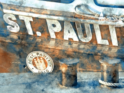 ARW-00001 - Digital Artwork - ST. PAULI Barkasse digital gezeichnet