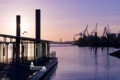 Hamburg Foto - HAF-00005 Hamburger Hafen Fähranleger König der Löwen Sonnenaufgang