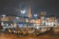 Hamburg Foto - HAL-00002-Rathausmarkt bei Nacht