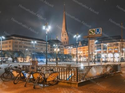 HAL-00002 - Hamburg Allgemein Stadtansichten - Rathausmarkt bei Nacht