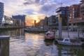 HAL-00005 - Hamburg Allgemein Stadtansichten - Sonnenuntergang Traditionshafen HafenCity