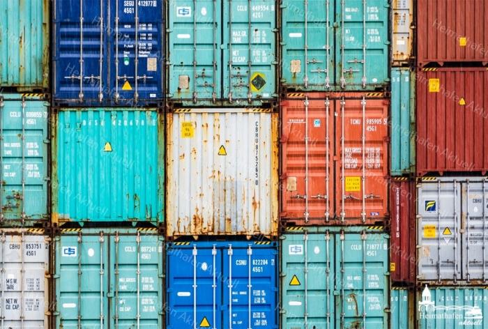 INR-00007 - Industrie & Retro - Bunte Container im Hamburger Hafen