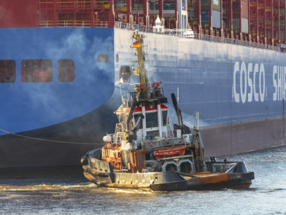 SHL-00003 - Schlepper - BUGSIER 10 und COSCO Containerschiff