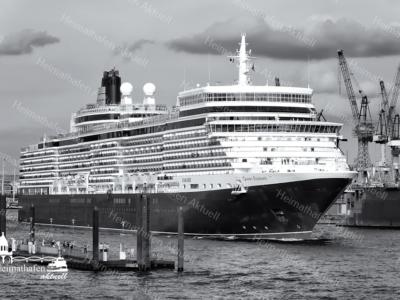 SUW-00005 - Schwarz Weiss - Kreuzfahrtschiff QUEEN ELIZABETH