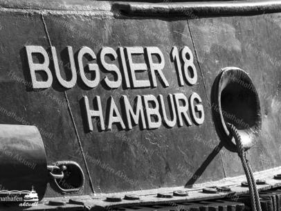SUW-00007 - Schwarz Weiss - Schlepper BUGSIER 18 Detail