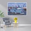 HAF-00018 - Hamburger Hafen - Schaufelraddampfer LOUISIANA STAR auf Hafenrundfahrt Wandbild hell