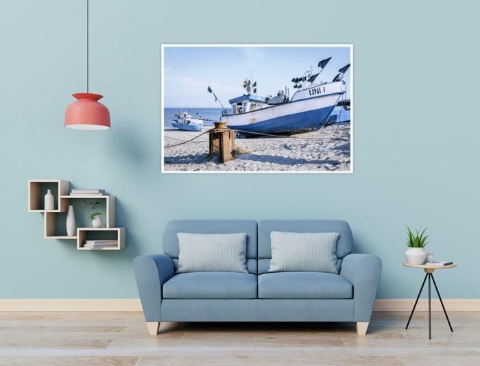 MAR-00005 - Maritimes - Fischerboot am Ostseestrand Wandbild 1