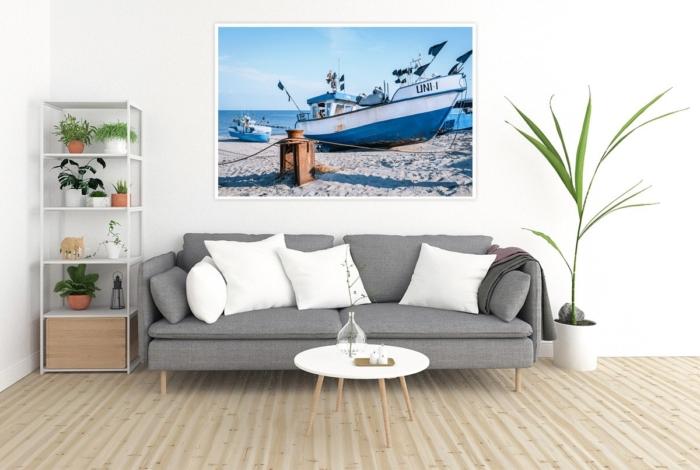 MAR-00005 - Maritimes - Fischerboot am Ostseestrand Wandbild 2