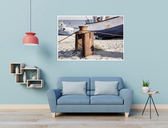 MAR-00006 - Maritimes - Fischerboot und Umlenkrolle am Ostseestrand Wandbild 2