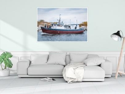 MAR-00007 - Maritimes - Fischerboot in Kolberg, Polnische Ostsee Wandbild 1
