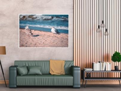 MAR-00009 - Maritimes - Möwen an der Ostsee Wandbild 1