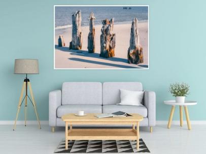 MAR-00013 - Maritimes - Alte Pfähle an der Ostsee Wandbild 1