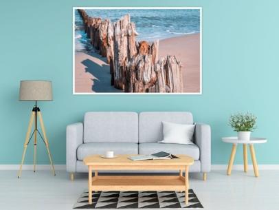 MAR-00014 - Maritimes - Alte Pfähle an der Ostsee Wandbild 1