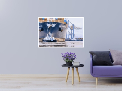 SHL-00019 - Schlepper - VB RASANT und Containerschiff MSC FIAMMETTA Wandbild 1
