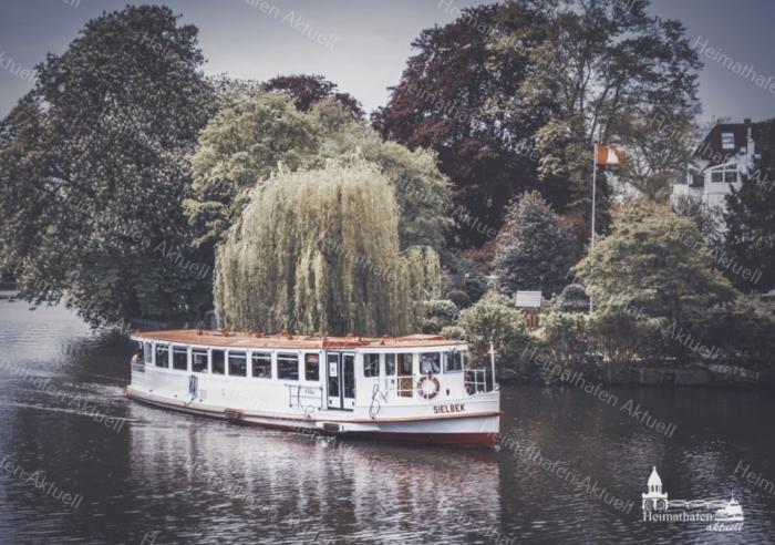 Hamburg Fotos und Bilder - Alster - ALS-00013-Alsterdampfer SIELBEK im Herbst