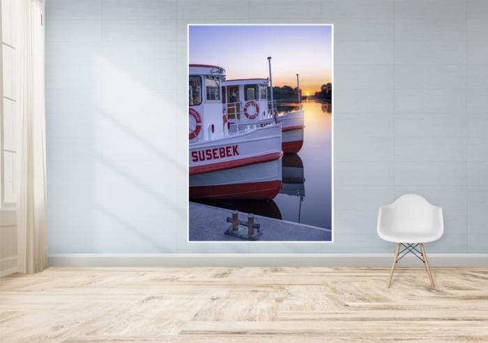 Hamburg Fotos und Bilder - Alster - ALS-00014-Sonnenaufgang am Anleger Jungfernstieg