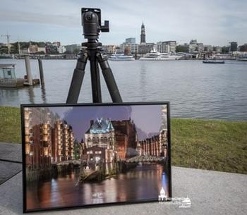 Exklusive Hamburg Bilder in A3, gerahmt und handsigniert. Hamburg Kunstdrucke