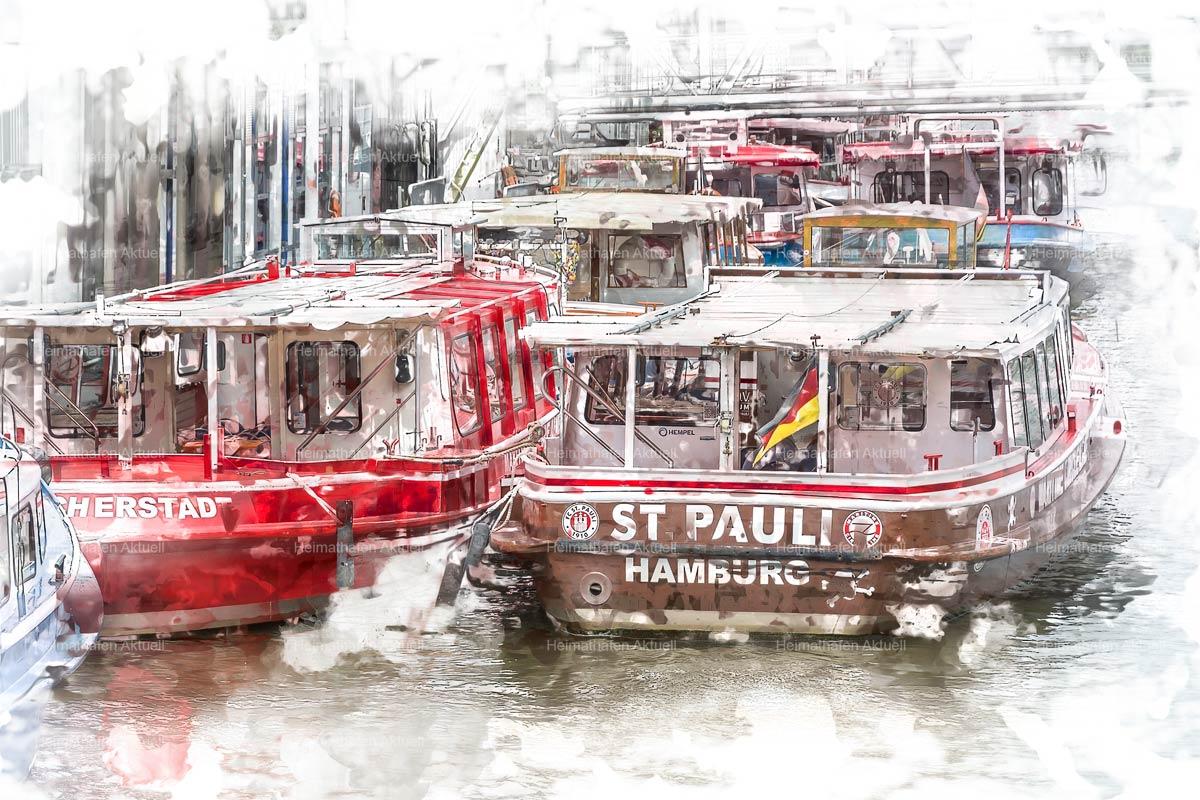 Hamburg abstrakt - ARW-00003-St .Pauli-Barkasse