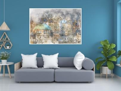 ARW-00131- Digital Art -Elbtunnel Hamburger Hafen - Gestaltungsansicht