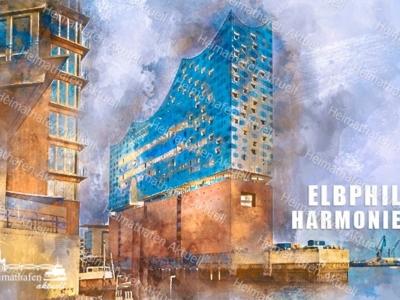 Abstraktes Hamburg ARW-00132-Hamburg Elbphilharmonie abstrakt