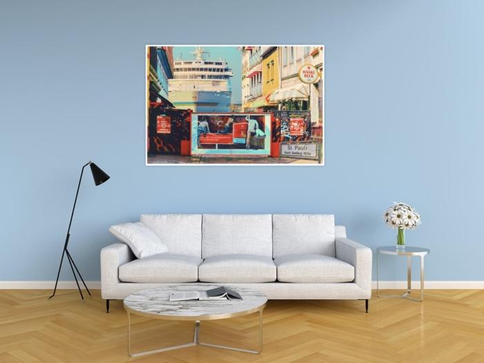 ARW-00133-Hamburg ST.Pauli Herbertstrasse und MS EUROPA abstrakt Gestaltungsansicht