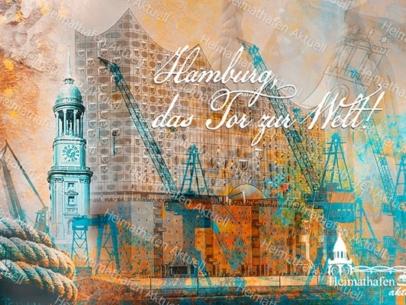 Abstraktes Hamburg ARW-00135-Hamburg Tor zur Welt