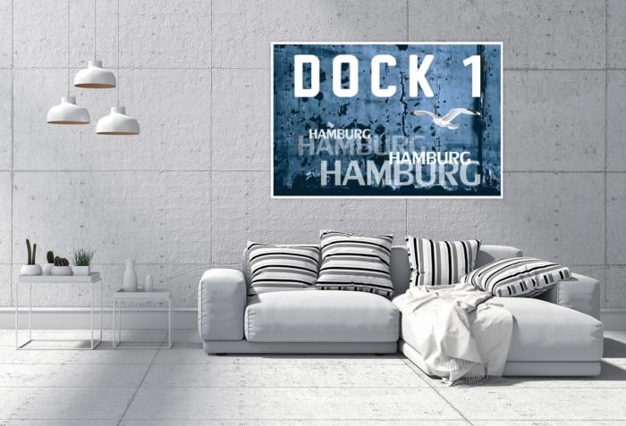 Hamburg Abstrakt - ARW-00023 DOCK 1 Hafen-Collage Gestaltungsansicht