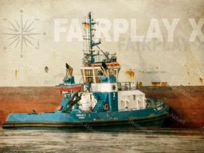 Hamburg Abstrakt - ARW-00024 Schlepper FAIRPLAY X beim bugsieren