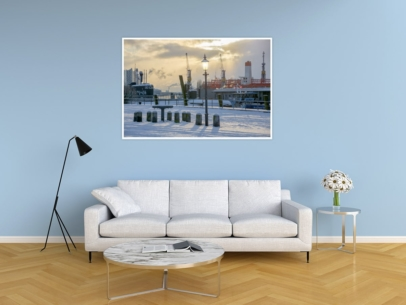 Hamburg Foto - HAF-00023 Winter sowie Eis und Schnee am Fischmarkt 2018 Gestaltungsansicht
