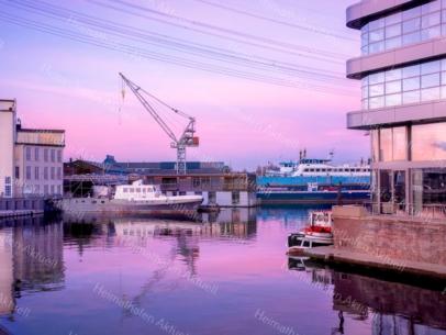 Hamburg Foto - HAF-00025 Werft im Harburger Hafen