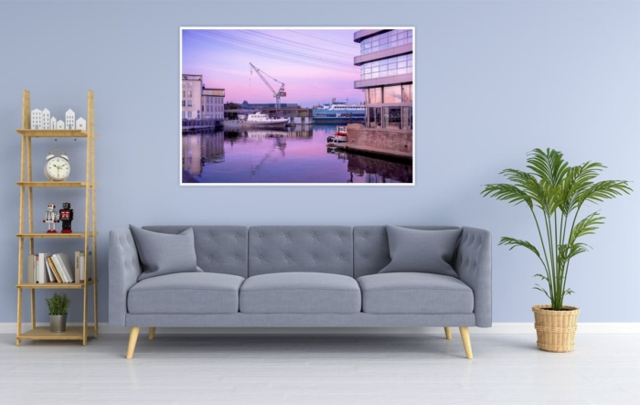 Hamburg Foto - HAF-00025 Werft im Harburger Hafen Gestaltungsansicht