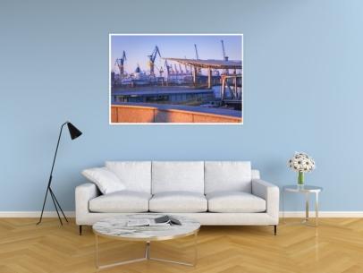Hamburg Foto - HAF-00030 Hamburger Landungsbrücken Gestaltungsansicht