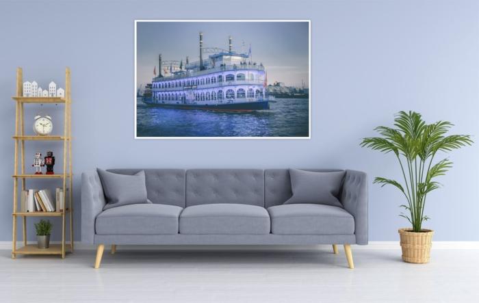 Hamburg Foto - HAF-00036 Schaufelraddampfer LOUISIANA STAR am Abend Gestaltungsansicht