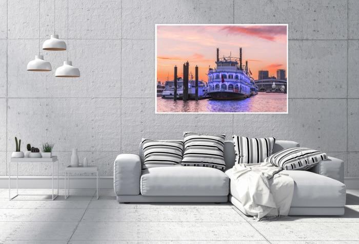 Hamburg Foto - HAF-00052 LOUISIANA STAR im Sonnenuntergang Gestaltungsansicht