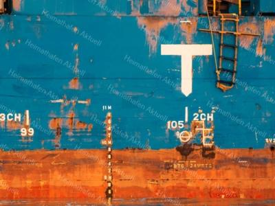 Hamburg Foto - INR-00007 Verrostete Schiffsbordwand