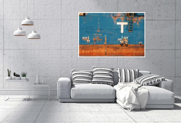 Hamburg Foto - INR-00007 Verrostete Schiffsbordwand Gestaltungsansicht