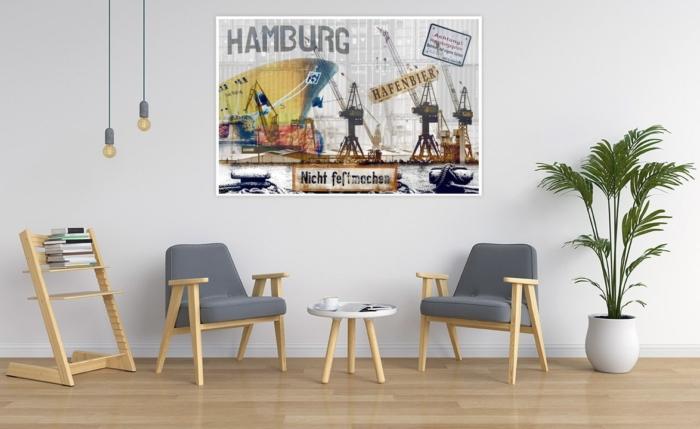ARW-00136 Hamburger Hafen abstrakt Gestaltungsansicht