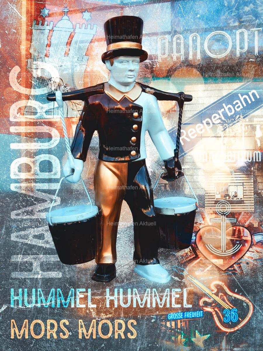 Hamburg abstrakt - ARW---136-Hamburg-abstrakt---Hans-Hummel-vor-dem-Panoptikum-an-der-Reeperbahn