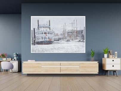 Hamburg Foto - HAF-00066 LOUISIANA STAR im Winter Gestaltungsansicht