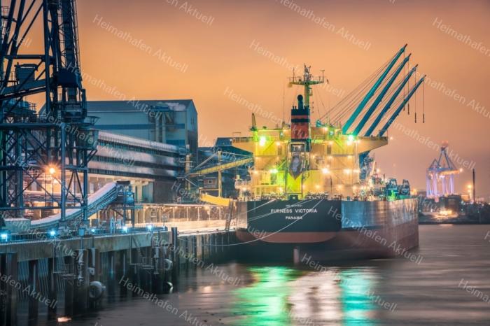 Hamburg Foto - HAF-00072 Abends im Rethekanal