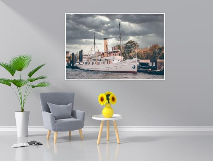 Hamburg Foto - HAF-00076 Staatsdampfer SCHAARHÖRN Gestaltungsansicht