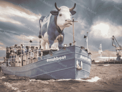 Hamburg Foto - HAF-00089 Milka Muhboot im Hamburger Hafen