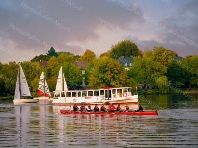 Hamburg Fotos und Bilder - ALS-00022-Alsterdampfer-Segelboote