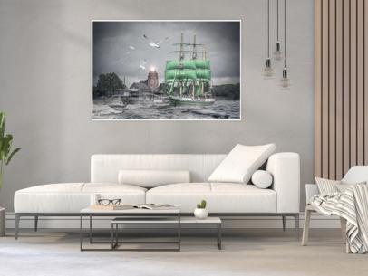 Abstraktes Hamburg ARW-00138- Alexander von Humbolt II-Gestaltungsansicht