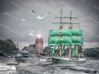 Abstraktes Hamburg Alexander von Humbolt II
