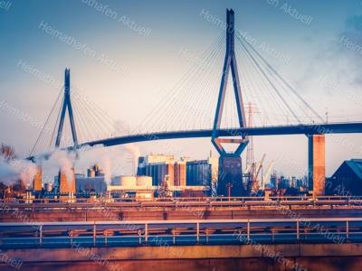 Hamburg Fotos HAL-00022-Köhlbrandbrücke