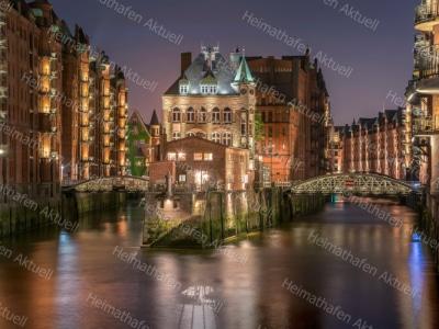 Hamburg Fotos und Bilder HAL-00024-Wasserschloss-Nachts