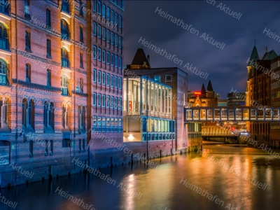 Hamburg Fotos u. Bilder - HAL-00043-Speicherstadt-bei-Nacht